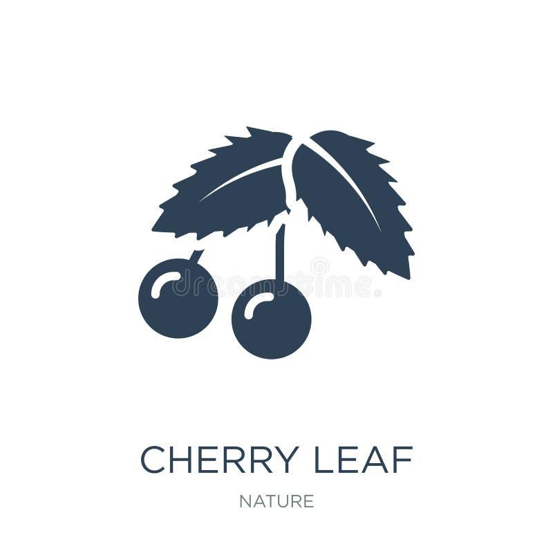 ícone da folha da cereja no estilo na moda do projeto ícone da folha da cereja isolado no fundo branco ícone do vetor da folha da ilustração do vetor
