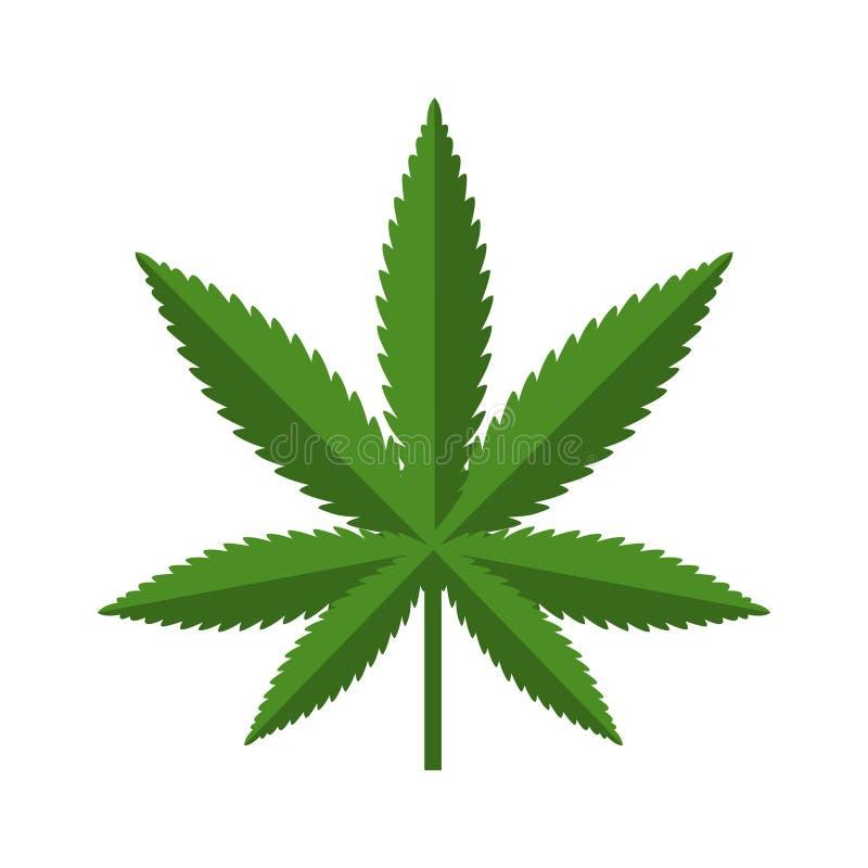 Ícone da folha do cannabis ilustração royalty free