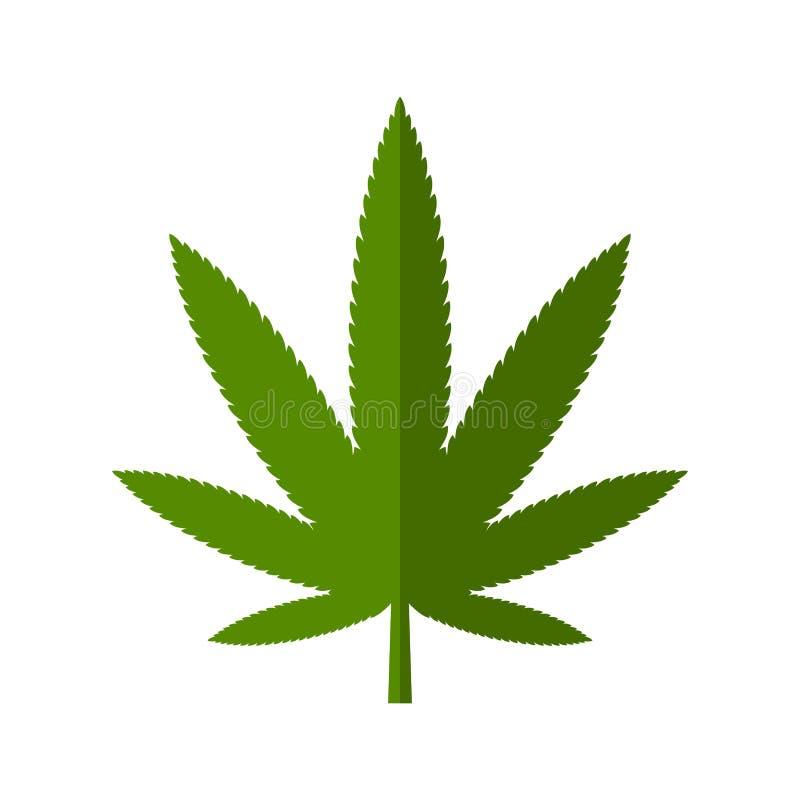Ícone da folha do cannabis ilustração stock