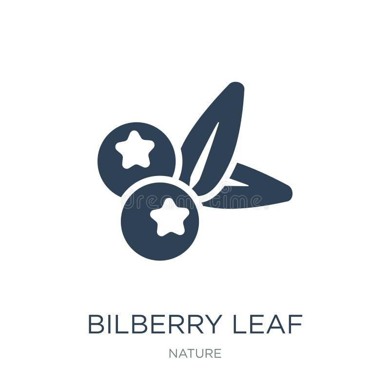 ícone da folha da uva-do-monte no estilo na moda do projeto ícone da folha da uva-do-monte isolado no fundo branco ícone do vetor ilustração do vetor