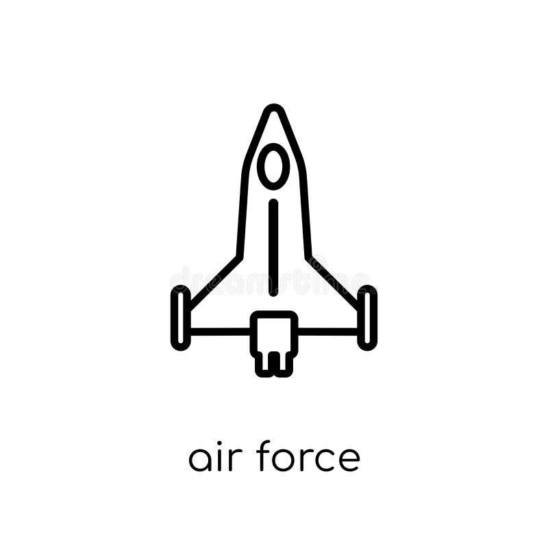 Ícone da força aérea da coleção do exército ilustração royalty free