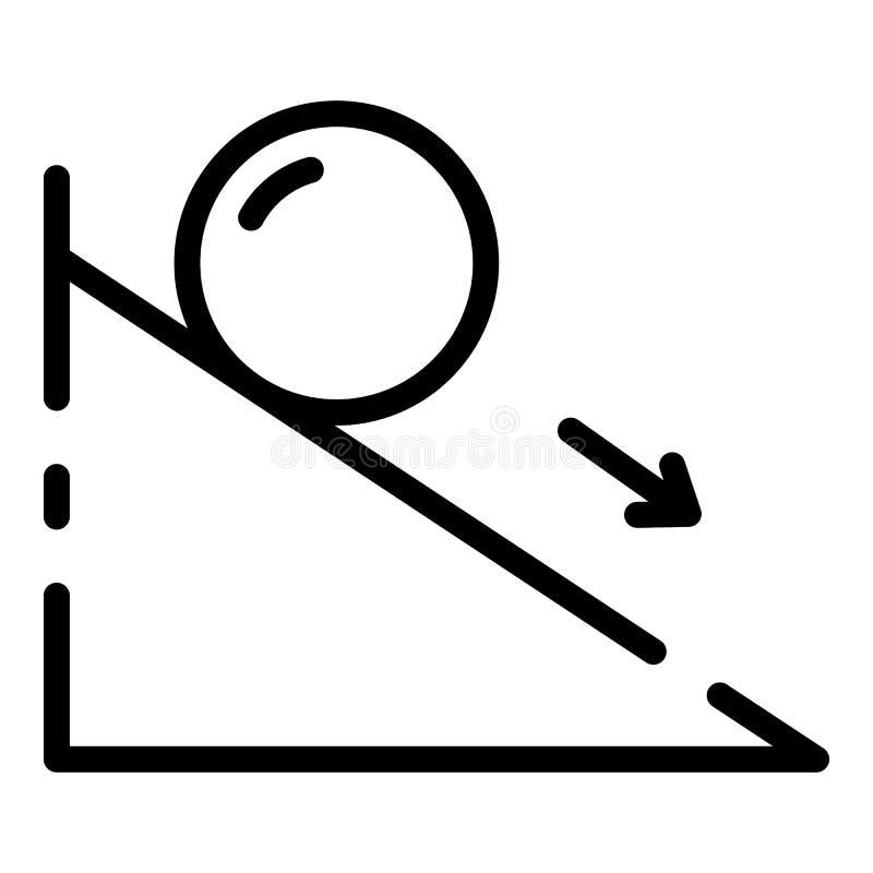 Ícone da força de fricção, estilo do esboço ilustração stock