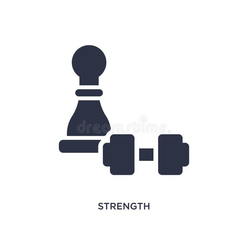 ícone da força no fundo branco Ilustração simples do elemento do conceito da estratégia ilustração royalty free