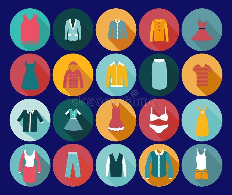 Ícone da forma da roupa do armazém. ilustração do vetor