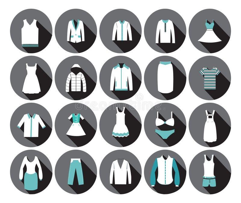 Ícone da forma da roupa do armazém. ilustração royalty free
