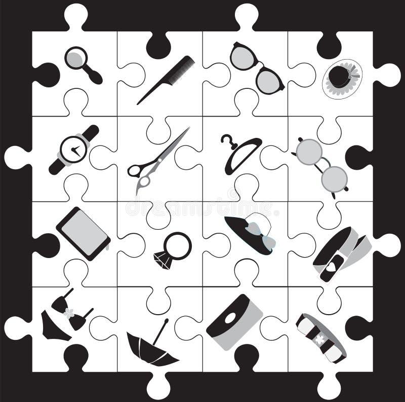 Ícone da forma dos acessórios do armazém. ilustração do vetor
