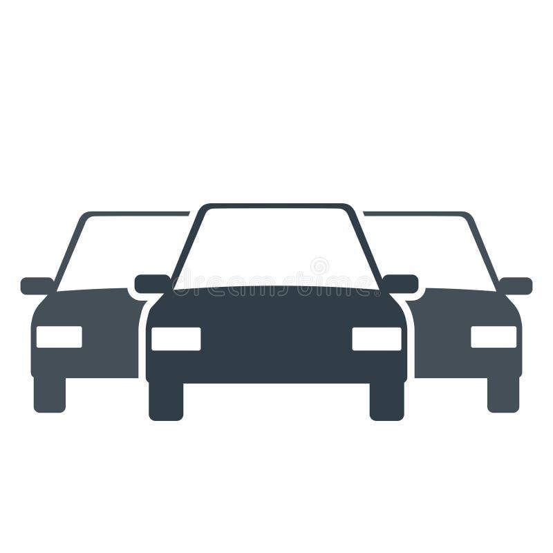Ícone da frota do carro ilustração stock