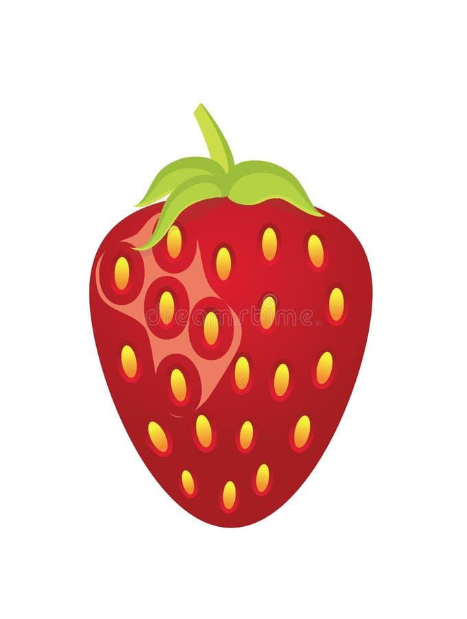 Ícone da fruta da morango fotografia de stock royalty free