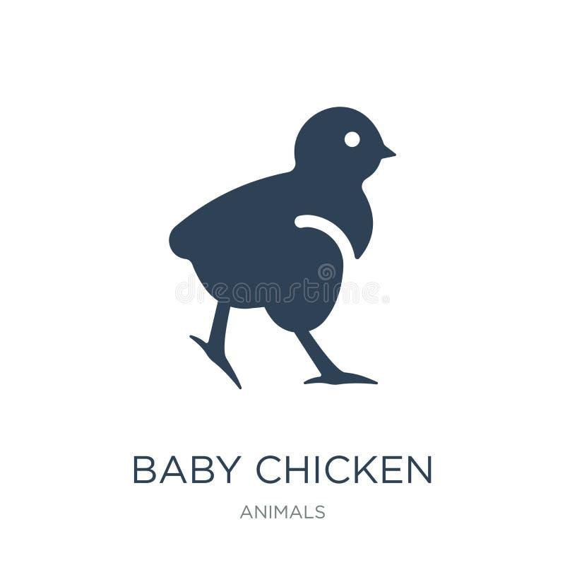 ícone da galinha do bebê no estilo na moda do projeto ícone da galinha do bebê isolado no fundo branco ícone do vetor da galinha  ilustração stock
