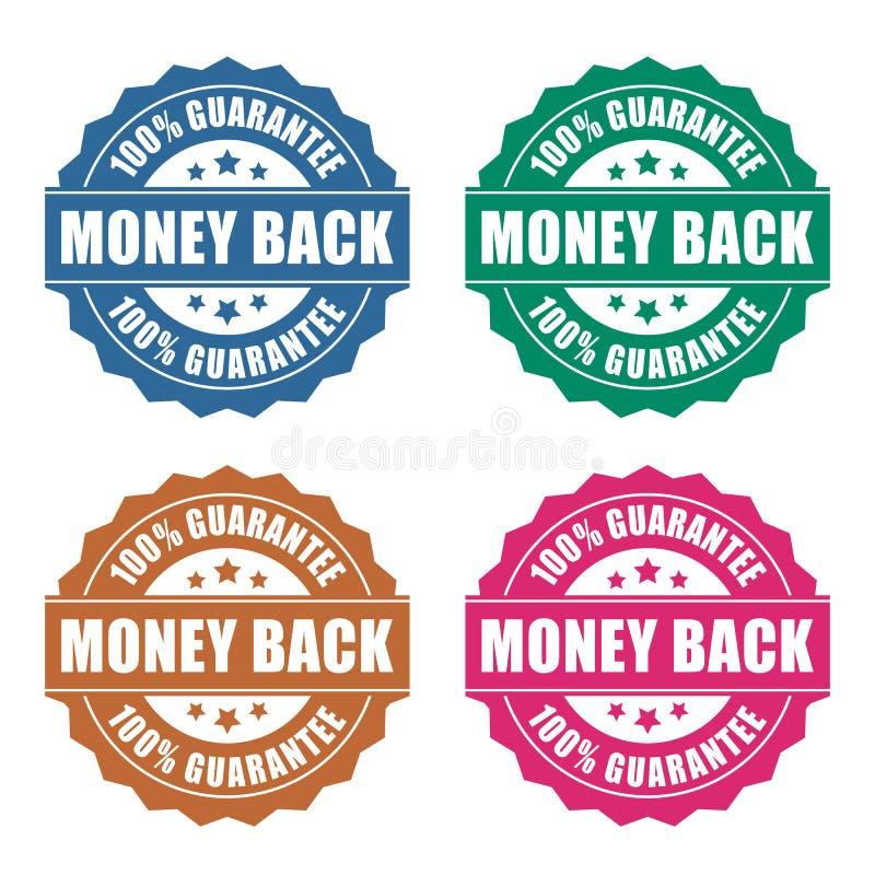 Ícone da garantia da parte traseira do dinheiro ilustração royalty free