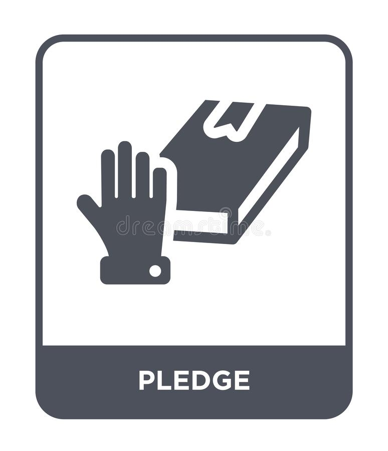 ícone da garantia no estilo na moda do projeto ícone da garantia isolado no fundo branco símbolo liso simples e moderno do ícone  ilustração stock
