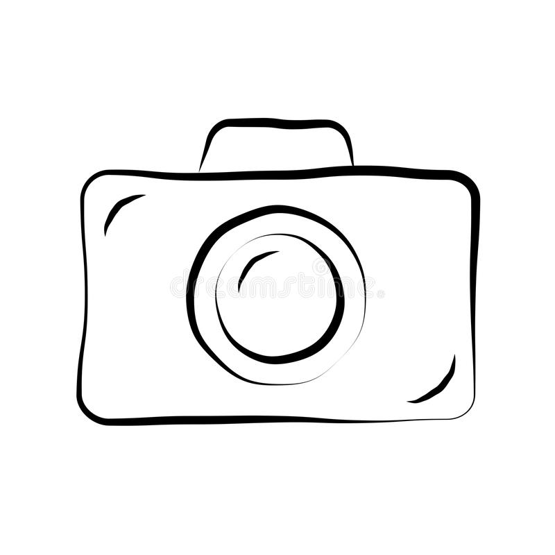 Ícone 1 da garatuja da câmera da foto ilustração do vetor
