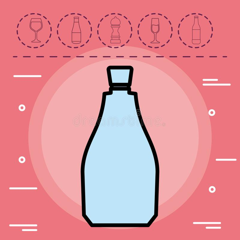 Ícone da garrafa de água ilustração stock