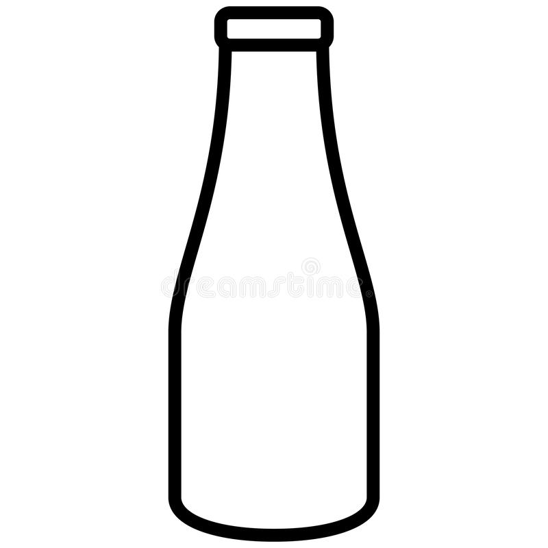 Ícone da garrafa de água ilustração royalty free