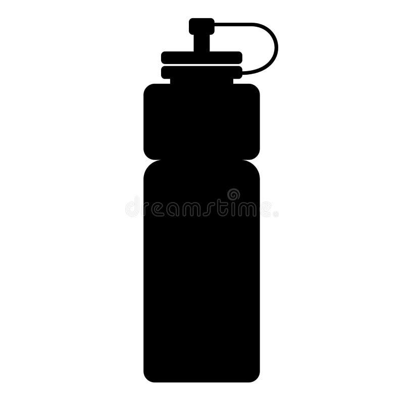 Ícone da garrafa de água dos esportes no fundo branco Estilo liso ícone para seu projeto do site, logotipo da garrafa de água dos ilustração do vetor