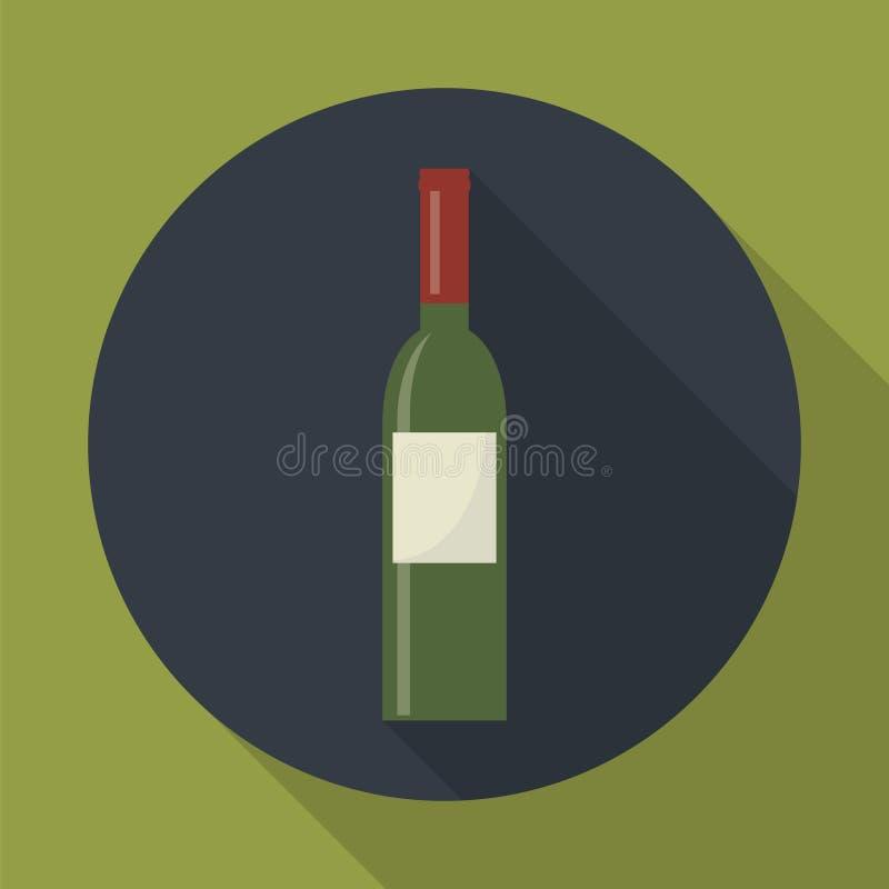 Ícone da garrafa de vinho ilustração royalty free