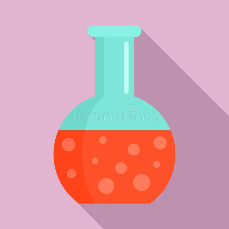 Ícone da garrafa do círculo do sangue, estilo liso ilustração do vetor