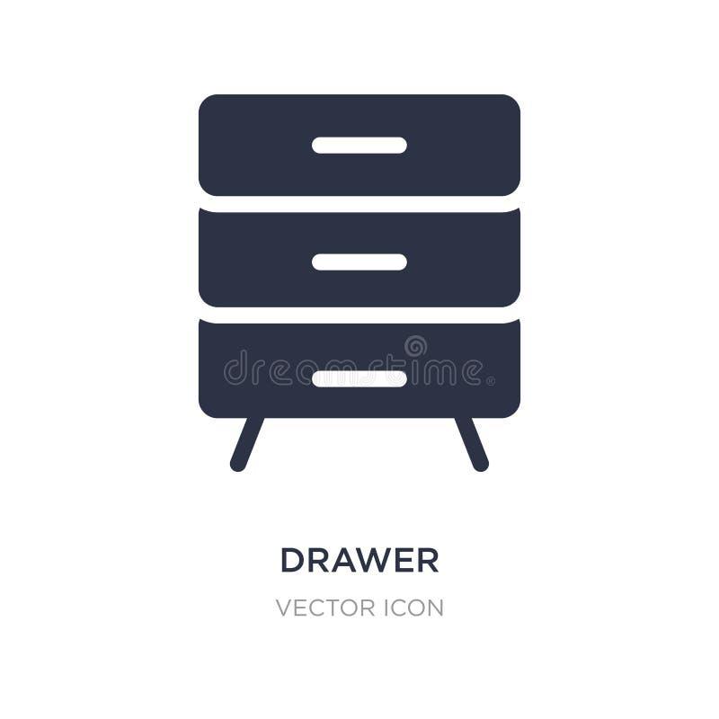 ícone da gaveta no fundo branco Ilustração simples do elemento do conceito satisfeito ilustração royalty free