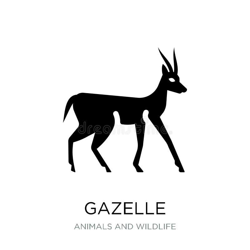 ícone da gazela no estilo na moda do projeto ícone da gazela isolado no fundo branco símbolo liso simples e moderno do ícone do v ilustração stock