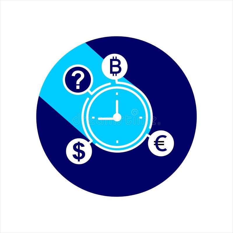 Ícone da gestão de tempo Conceito do negócio ilustração do vetor