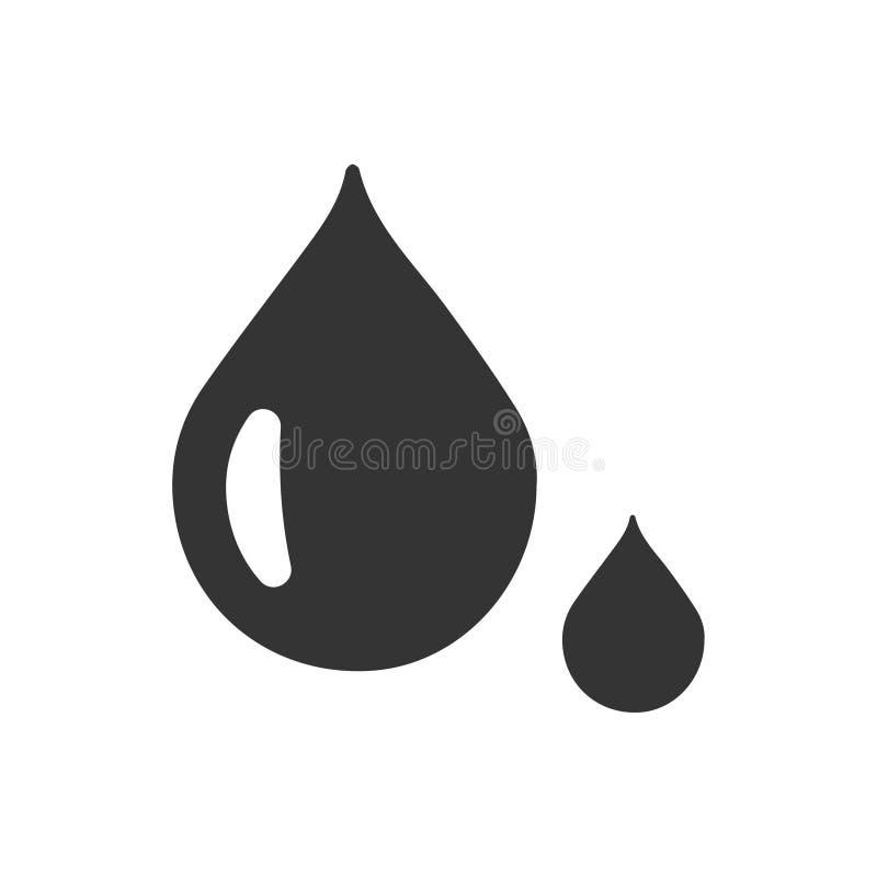 Ícone da gota da água ilustração royalty free