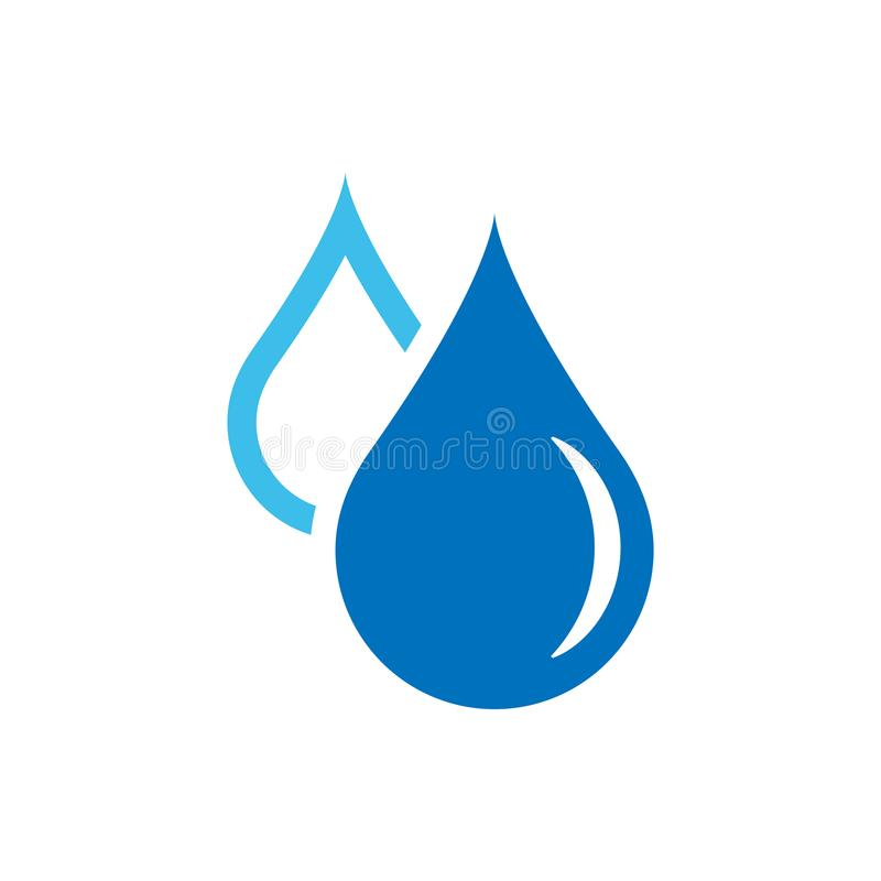 Ícone da gota da água no estilo liso Ilustração do vetor do pingo de chuva em w ilustração do vetor
