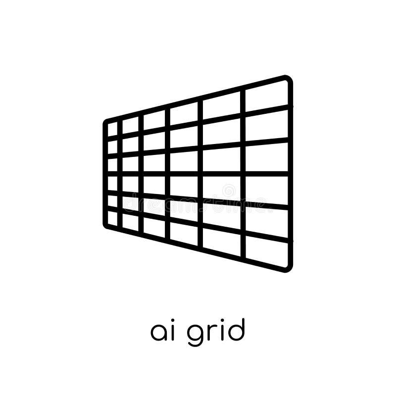 Ícone da grade do AI  ilustração stock
