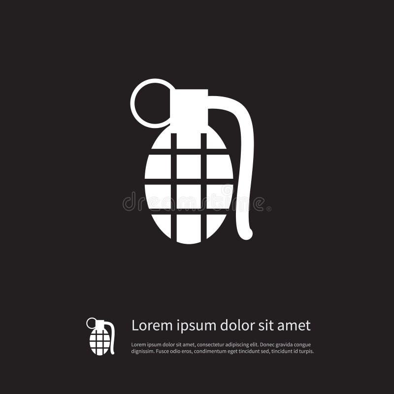 Ícone da granada O elemento do vetor da dinamite pode ser usado para a granada, notícia bombástica, conceito de projeto da muniçã ilustração royalty free