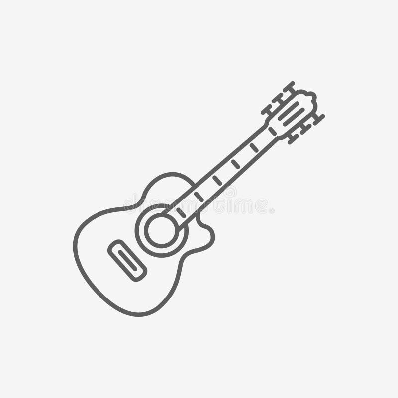 Ícone da guitarra acústica ilustração stock