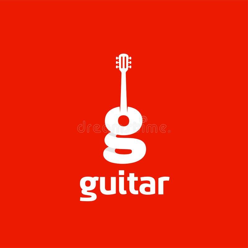 Ícone da guitarra de G ilustração stock