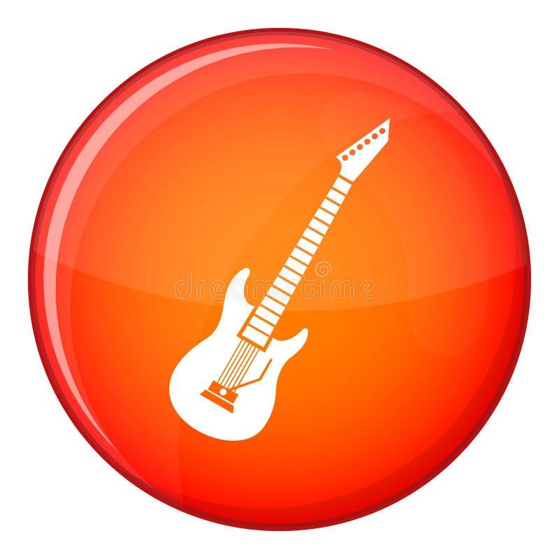 Ícone da guitarra elétrica, estilo liso ilustração stock