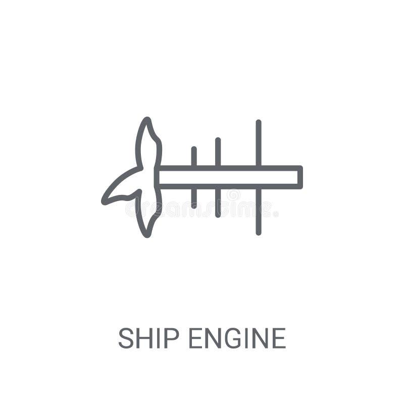Ícone da hélice do motor do navio Logotipo na moda co da hélice do motor do navio ilustração stock