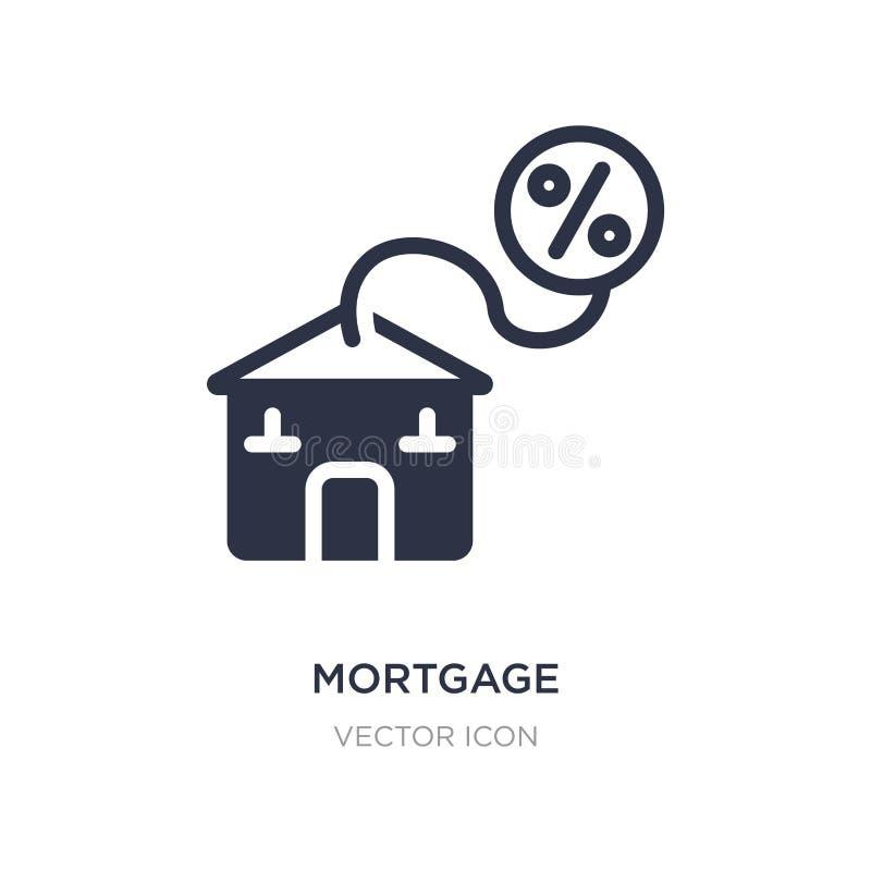 ícone da hipoteca no fundo branco Ilustração simples do elemento do conceito da economia de Digitas ilustração stock