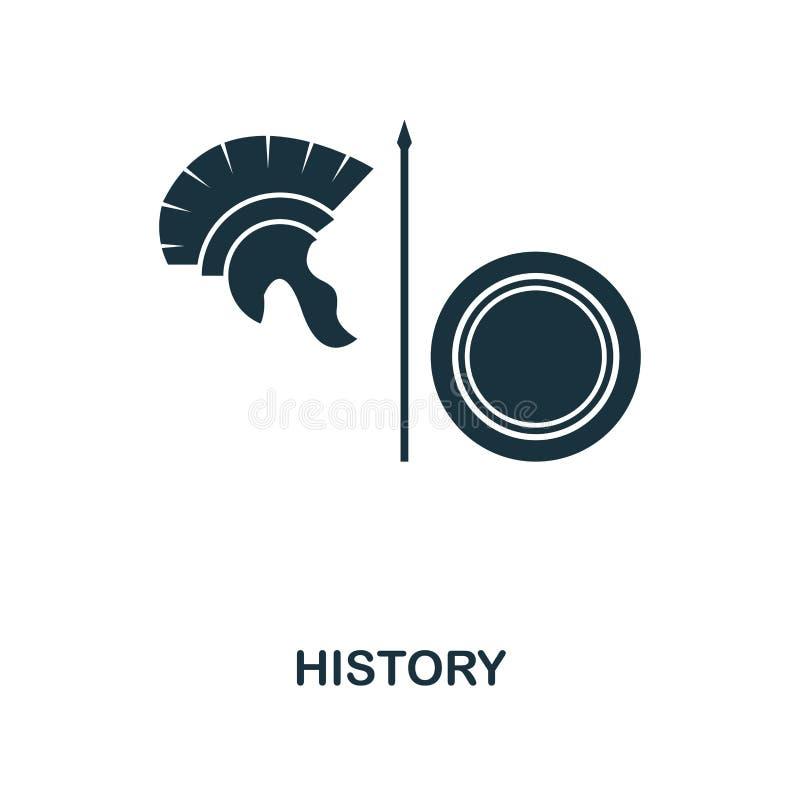 Ícone da história Projeto monocromático do ícone do estilo da coleção do ícone da escola Ui Ilustração do ícone da história Picto ilustração do vetor