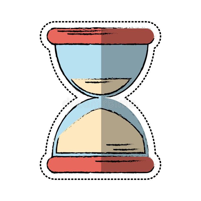 Ícone da horas da areia dos desenhos animados ilustração royalty free