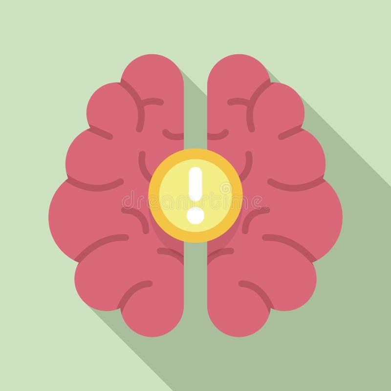 Ícone da ideia do cérebro, estilo liso ilustração do vetor