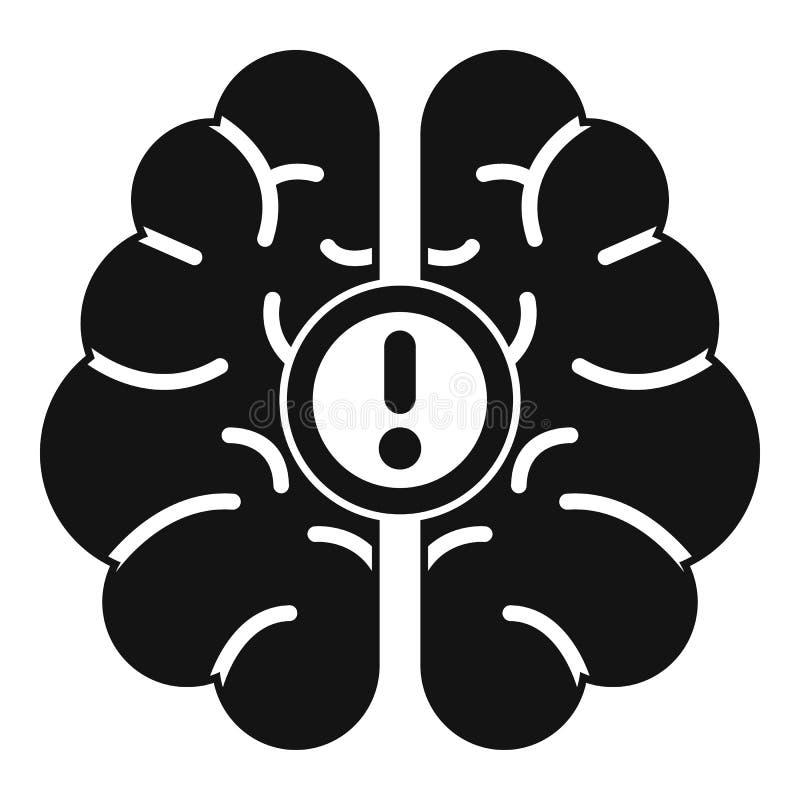 Ícone da ideia do cérebro, estilo simples ilustração do vetor