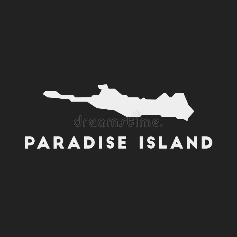 Ícone da Ilha Paradise ilustração stock