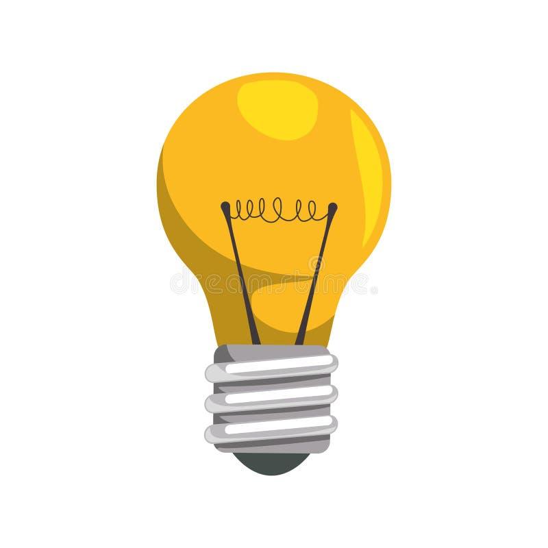 Ícone da iluminação do poder da energia da ampola Gráfico de vetor ilustração do vetor