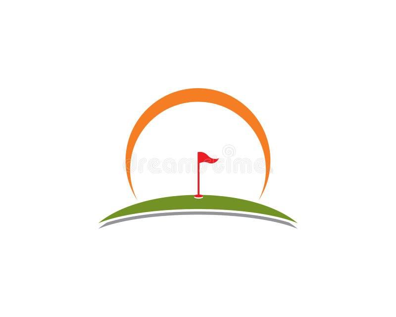 Ícone da ilustração do vetor de Logo Template do golfe ilustração stock