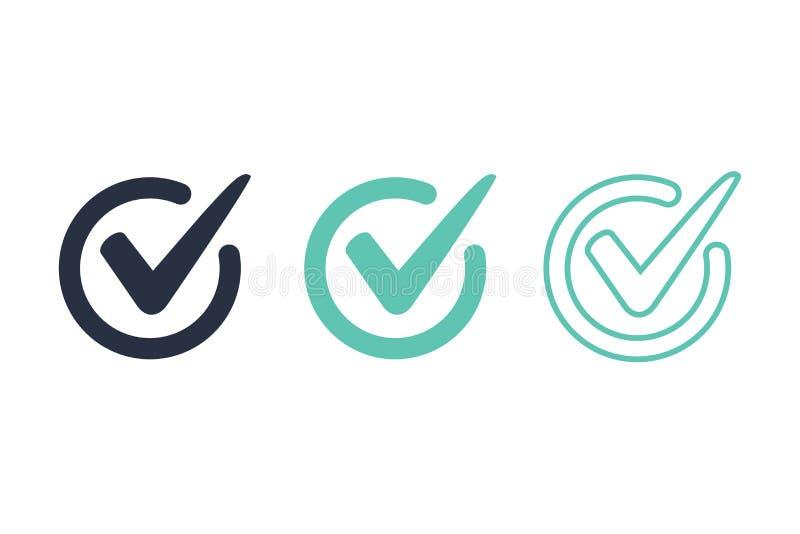 Ícone da imagem do conceito da ilustração do vetor do logotipo da marca de verificação ou do vetor do ícone Acesso, ícones da res ilustração royalty free