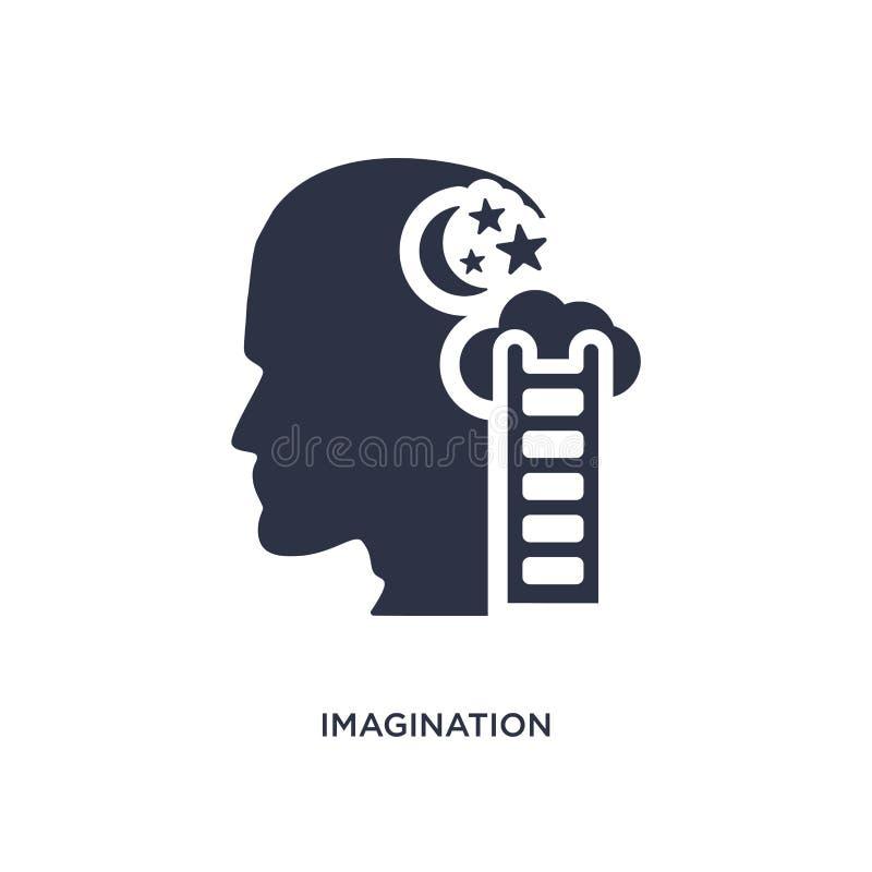 ícone da imaginação no fundo branco Ilustração simples do elemento do conceito do processo do cérebro ilustração royalty free