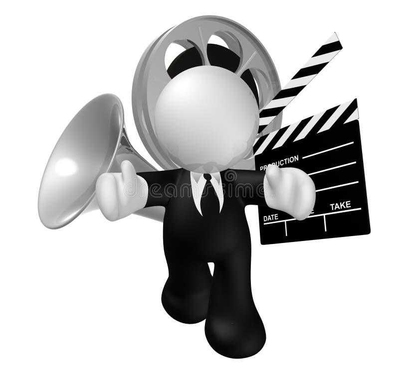 Ícone da indústria do negócio de filme ilustração stock