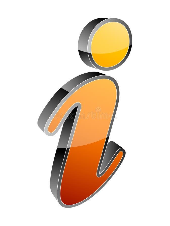 Ícone da informação ilustração stock