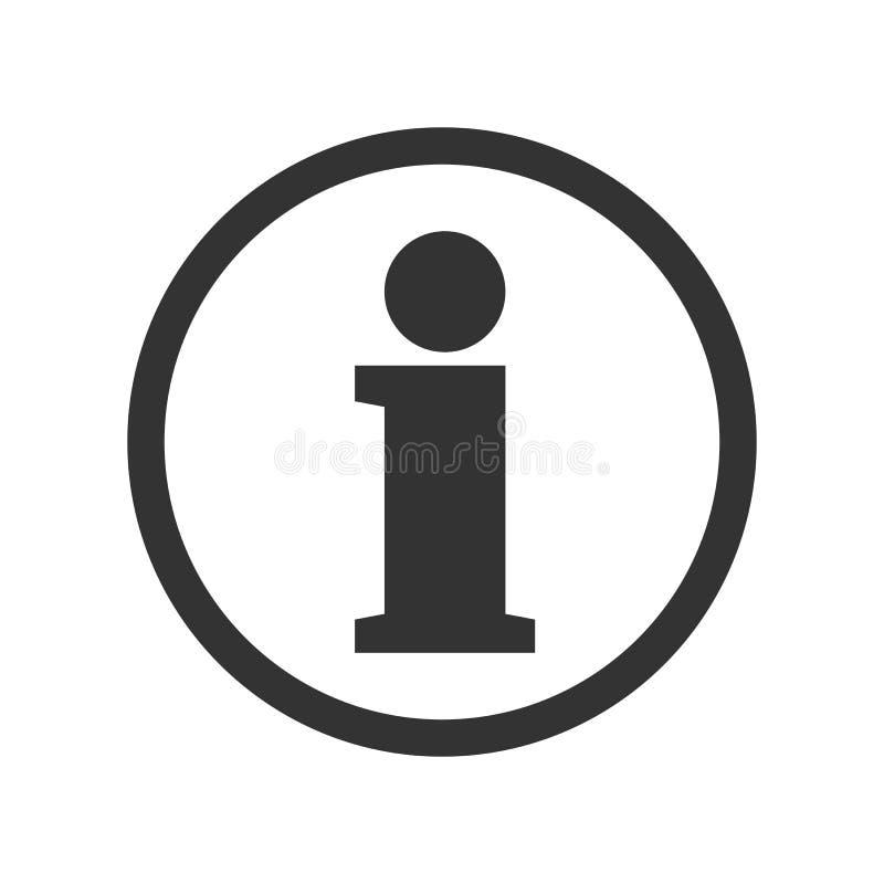 Ícone da informação Botão da informação - vetor ilustração royalty free