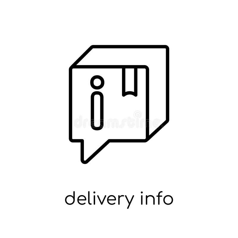 Ícone da informação de entrega da entrega e da coleção logística ilustração stock