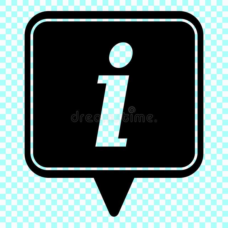 Ícone da informação, ícone do sinal da informação Símbolo da bolha do discurso da informação Eu rotulo o vetor ilustração stock