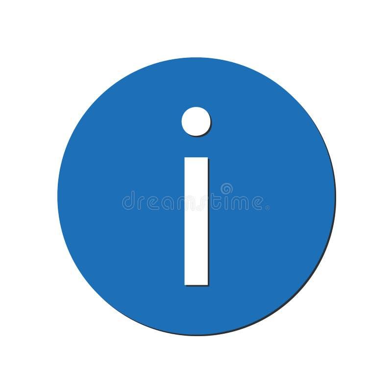 Ícone da informação no círculo azul Ilustração Eps 10 do vetor ilustração royalty free
