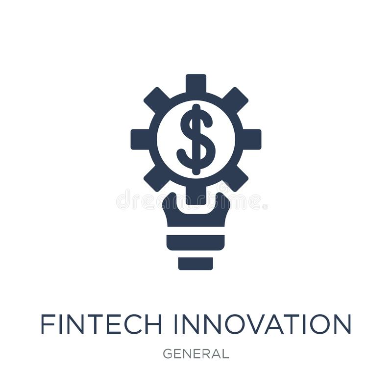 ícone da inovação do fintech Inovação lisa na moda i do fintech do vetor ilustração royalty free