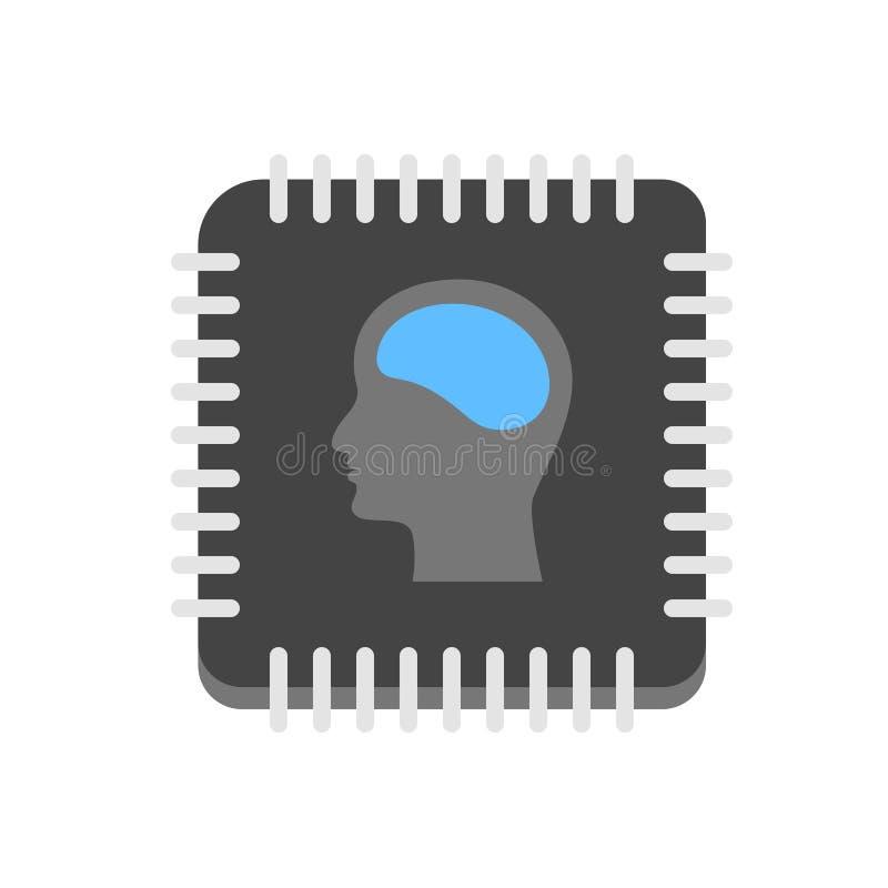 Ícone da inteligência artificial foto de stock royalty free